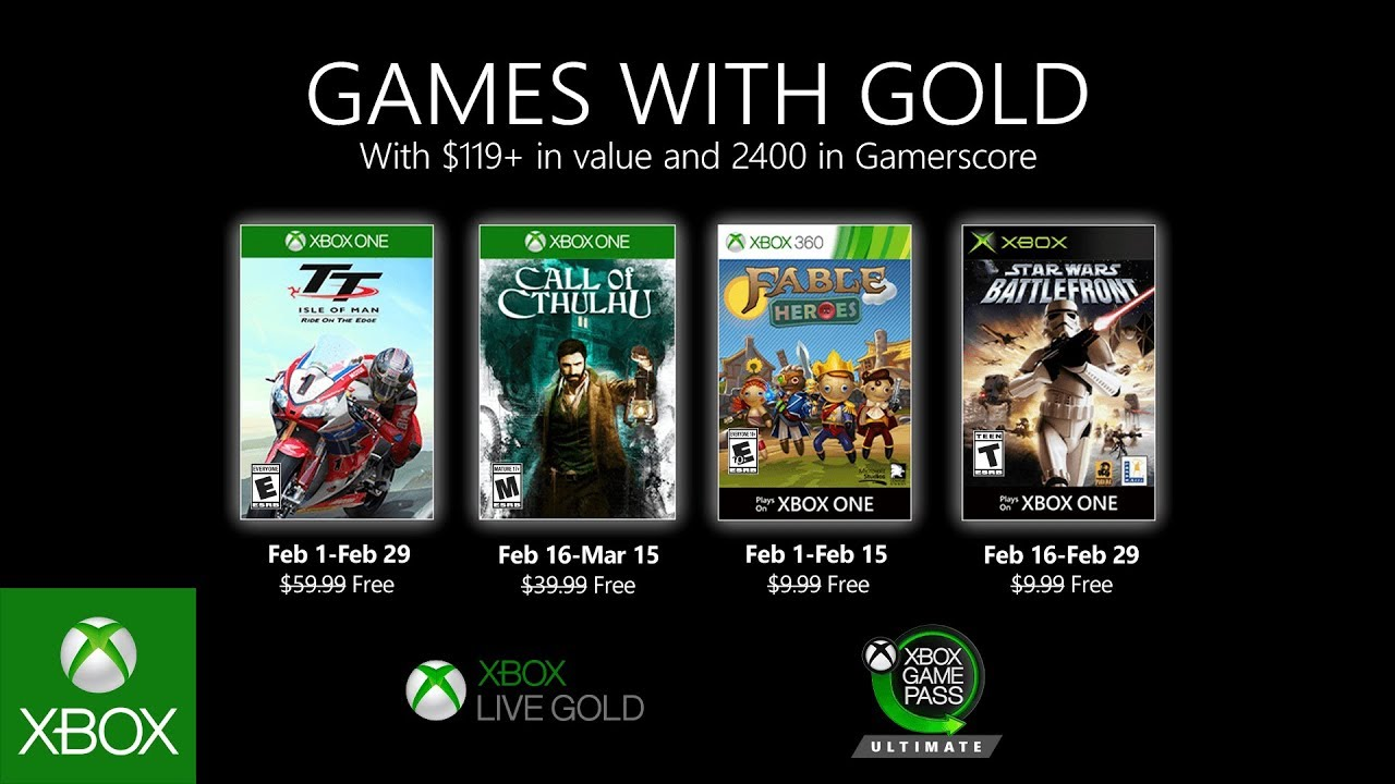 Xbox Gold Február 2020