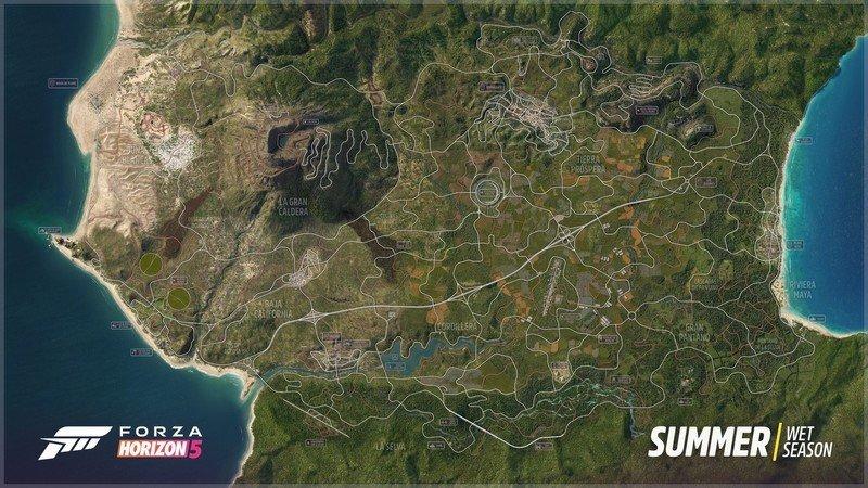 Forza Horizon 5 Mapa