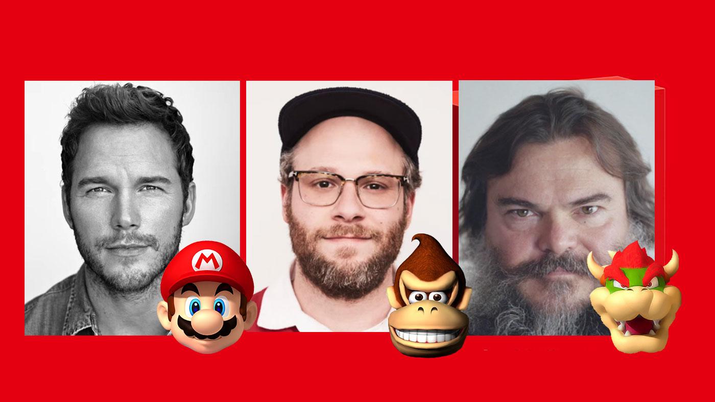 Super Mario film - Chris Pratt, Jack Black, Seth Rogan...